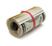 Un rotolo della banconota in dollari 100 Fotografia Stock Libera da Diritti