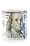 Un rotolo di cento dollari Immagini Stock Libere da Diritti
