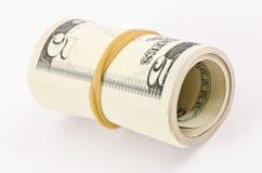 Un rotolo di cinque dollari Fotografia Stock Libera da Diritti