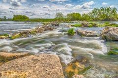 Un rotolo sul fiume del pino Fotografia Stock Libera da Diritti
