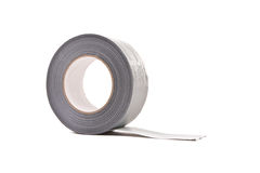 Un rouleau de gris/de ruban adhésif d'argent Photographie stock