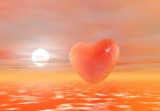 Un símbolo rojo del corazón del amor Fotos de archivo libres de regalías