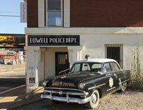 Un 50s Ford Police Car, Lowell, Arizona Immagini Stock Libere da Diritti