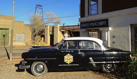 Un 50s Ford Police Car, Lowell, Arizona Fotografie Stock
