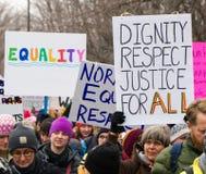 Un ` s marzo Minnesota di 2017 donne Fotografia Stock Libera da Diritti