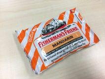 un sac d'ami du ` s de pêcheur avec la saveur orange Photo libre de droits