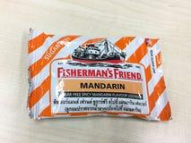 un sac d'ami du ` s de pêcheur avec la saveur orange Photos libres de droits