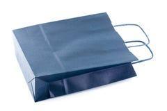 Un sac de papier bleu Images stock