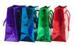 Un sacchetto dei quattro regali Fotografia Stock Libera da Diritti