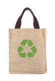 Un sacchetto di acquisto di ecologia di riciclaggio Fotografia Stock