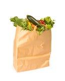Un sacchetto di drogheria in pieno delle verdure sane Immagine Stock Libera da Diritti
