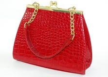 Un sacchetto rosso immagine stock libera da diritti