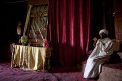 Un sacerdote in Lalibela Fotografia Stock Libera da Diritti