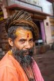 Un Sadhu hindú en Haridwar, la India fotos de archivo
