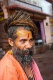 Un Sadhu hindú en Haridwar, la India foto de archivo