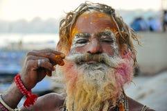 Un sadhu a Varanasi, India Immagine Stock