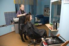 In un salone di capelli Immagine Stock Libera da Diritti