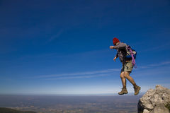 Un salto de la fe Fotos de archivo libres de regalías