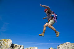 Un salto di fede Fotografia Stock