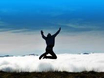 Un salto hermoso en el cielo Fotografía de archivo libre de regalías