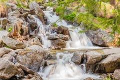 Un salto scintillante di una cascata Fotografie Stock Libere da Diritti