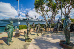 Un saludo nacional a Bob Hope y a los militares Fotografía de archivo libre de regalías