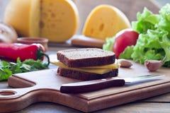 Un sandwich à fromage Images libres de droits