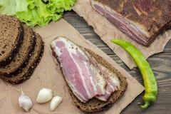 Un sandwich à saucisse photographie stock libre de droits