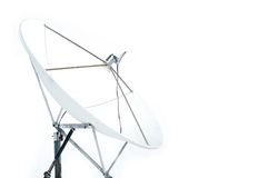 Un satellite d'isolement Photo stock