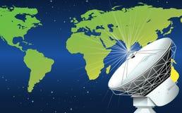 Un satellite dans l'espace Image stock