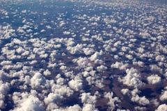 Un scape hermoso del cielo del sistema del sol de una opinión del airplain foto de archivo libre de regalías