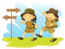 Un scout de garçon illustration stock