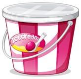 Un seau de crème glacée  Image stock