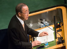 UN Secretary General Ban Ki-moon Stock Photos