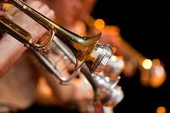 Un segmento de la trompeta Imagenes de archivo