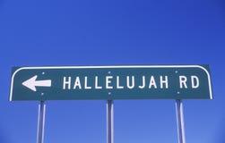 Un segno che legge il ½ del ¿ di Rdï di hallelujah del ½ del ¿ del ï immagini stock