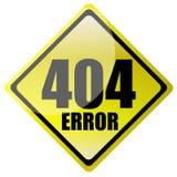 un segno di 404 errori Immagine Stock Libera da Diritti