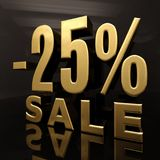 Un segno di 25 per cento Fotografia Stock