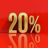 Un segno di 20 per cento Fotografie Stock Libere da Diritti