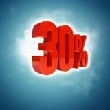 Un segno di 30 per cento Immagine Stock Libera da Diritti