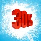 Un segno di 30 per cento Fotografia Stock