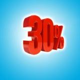 Un segno di 30 per cento Fotografia Stock Libera da Diritti