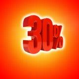 Un segno di 30 per cento Immagini Stock Libere da Diritti