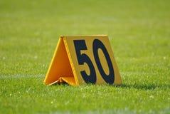 un segno di 50 yarde Fotografia Stock