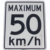 Un segno limite di velocità Immagini Stock Libere da Diritti