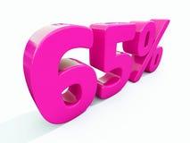 Un segno rosa di 65 per cento illustrazione vettoriale