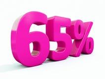 Un segno rosa di 65 per cento Immagini Stock Libere da Diritti