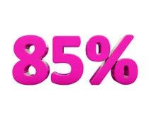 Un segno rosa di 85 per cento Illustrazione Vettoriale