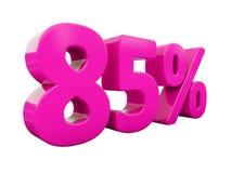 Un segno rosa di 85 per cento Royalty Illustrazione gratis