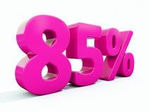 Un segno rosa di 85 per cento Illustrazione di Stock